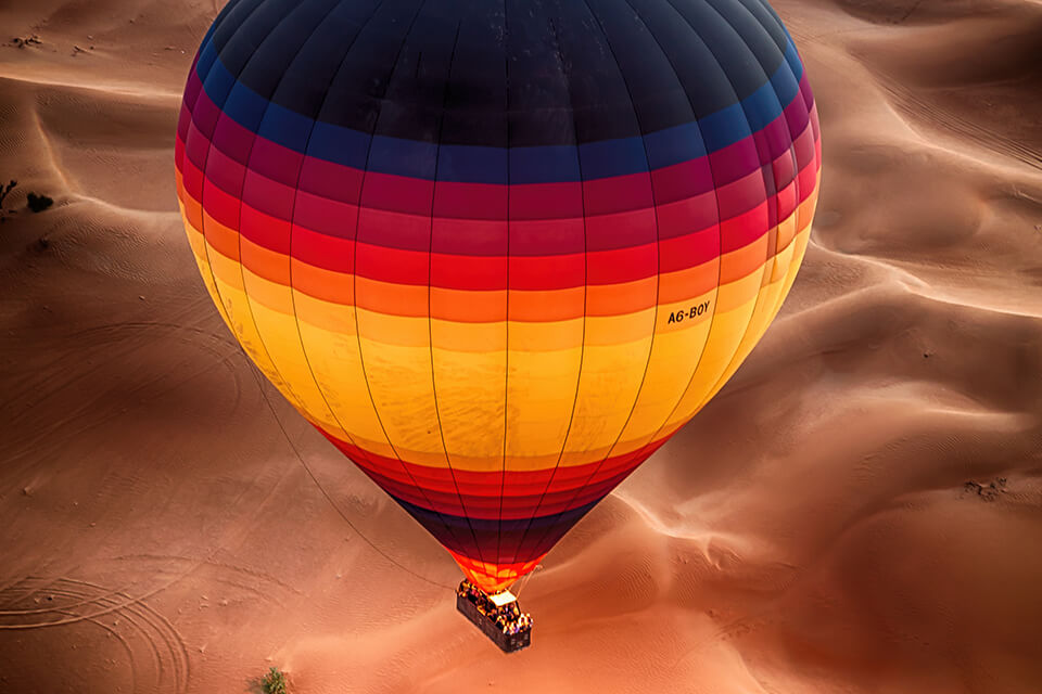 Sunrise hot air balloon