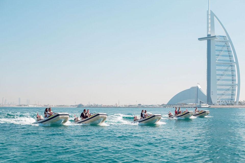Dubai's iconic Burj al Arab Atlantis Boat Tour