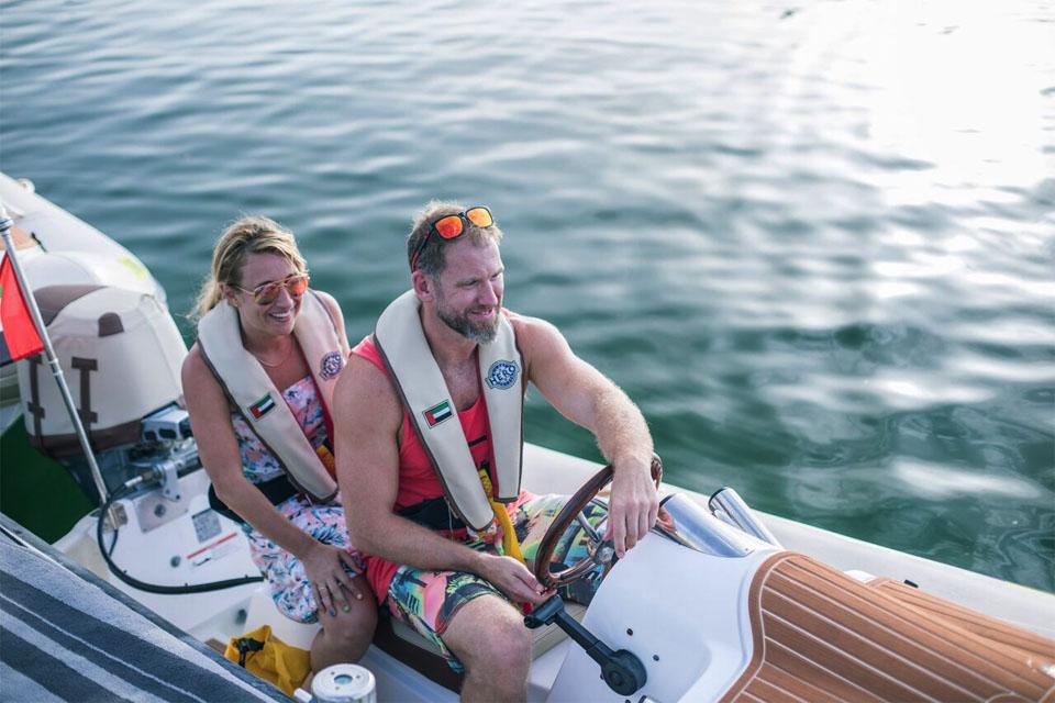 Sunset self-drive boat tour Dubai