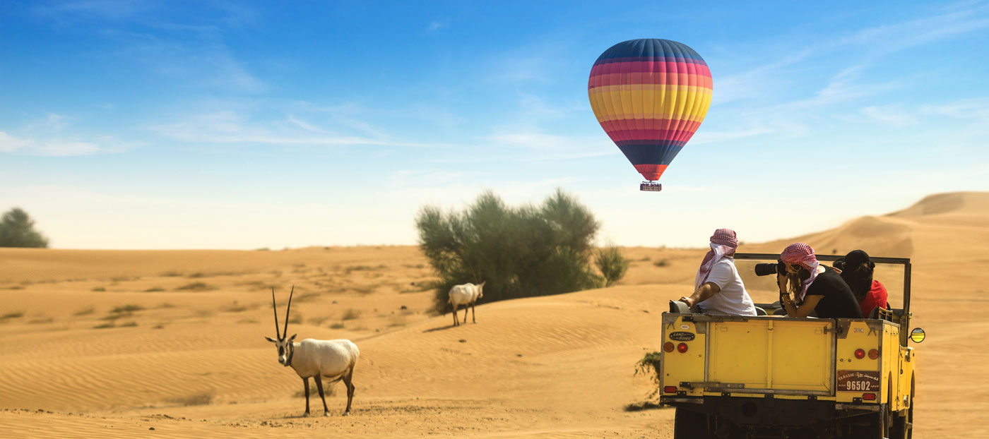 Hot air Balloon desert safari