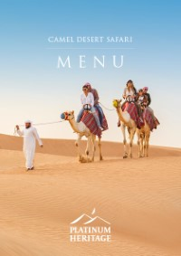 Camel desert safari food menu