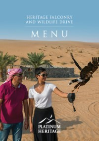 Heritage Falconry and wildlife drive food menu