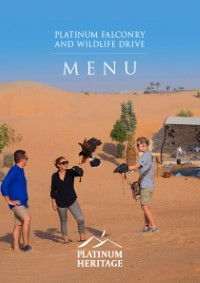 Platinum Falconry and Wildlife drive food menu