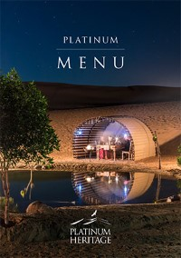 Platinum Dinner Menu